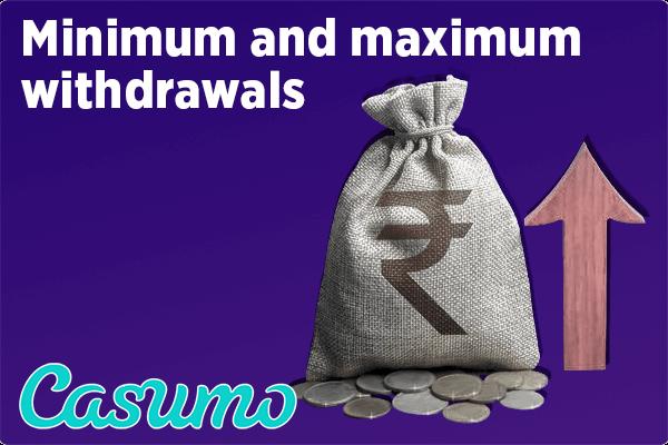 Minimum and maximum withdrawals. Limits