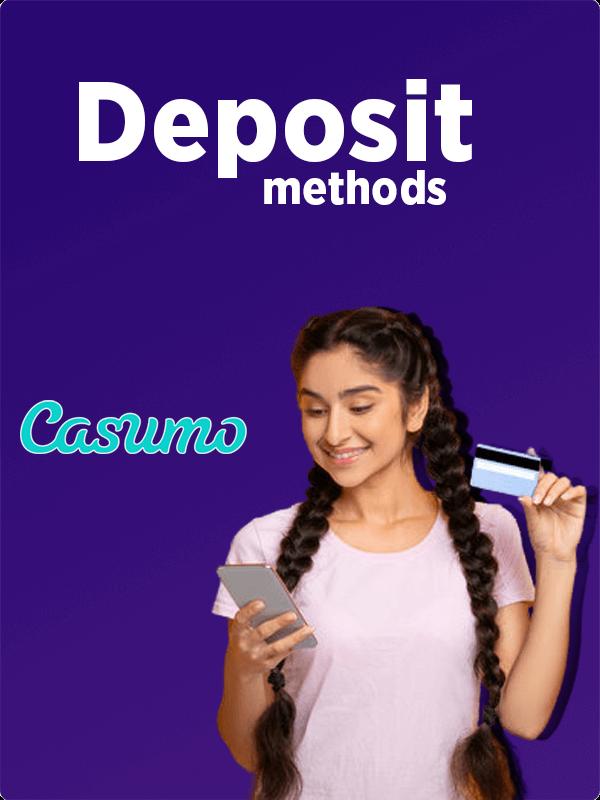 Deposit methods in Casumo