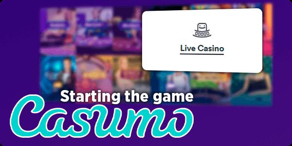 Start playing Live Casino